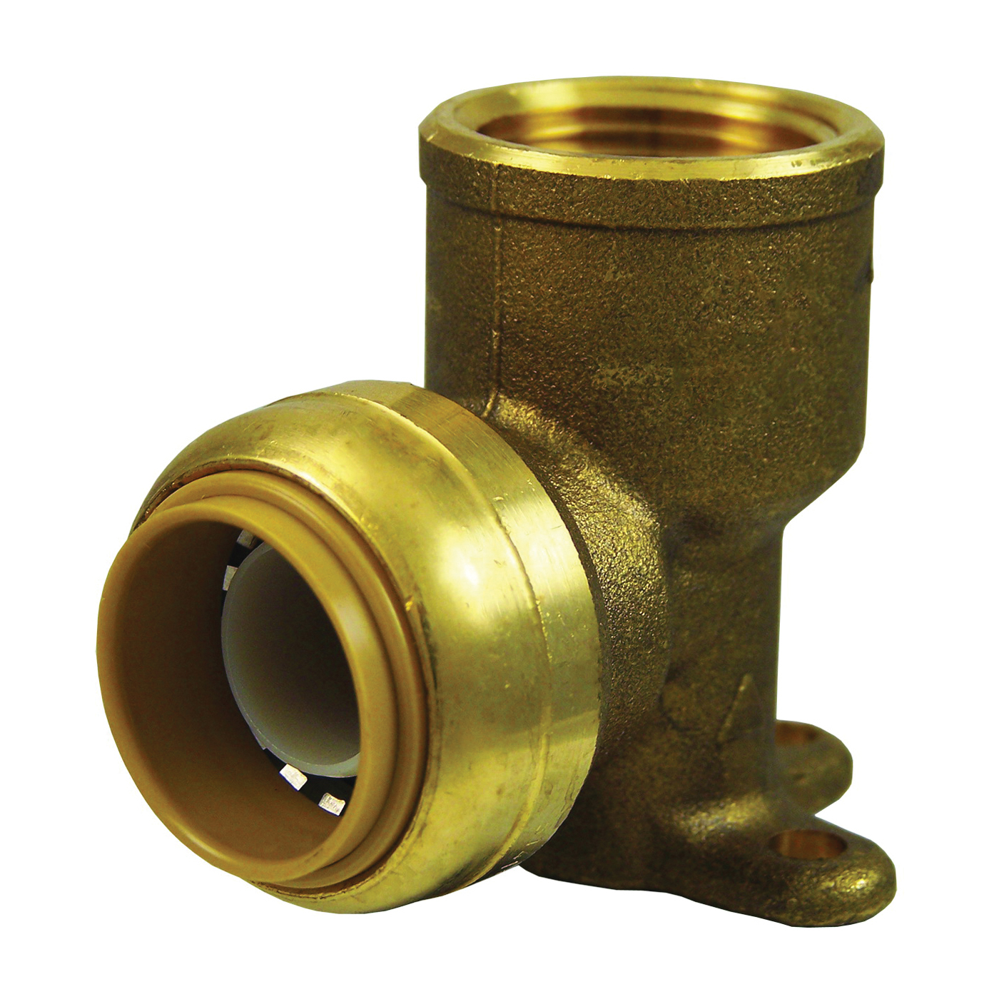 Picture of SharkBite U340LFA Tube to Pipe Elbow, 3/4 in, 90 deg Angle, Brass, 200 psi Pressure