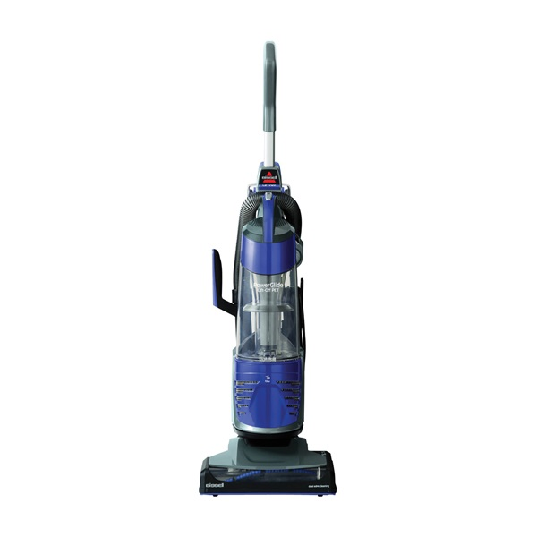 Picture of BISSELL PowerGlide Lift-Off 2043 Vacuum Cleaner, Multi-Level Filter, 30 ft L Cord, Grapevine Purple Housing