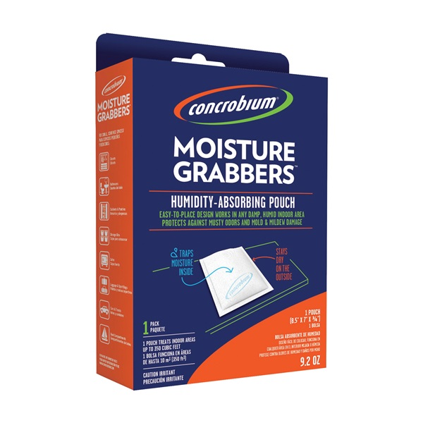 Picture of Concrobium 735-1092 Moisture Grabbers, 9.2 oz Package, Pouch, Solid, Odorless
