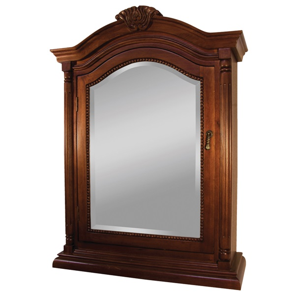 Picture of Foremost Wingate WIC2533 Medicine Cabinet, 24-7/8 in OAW, 9-1/2 in OAD, 33-1/8 in OAH, Antique Deep Cherry, 1-Door