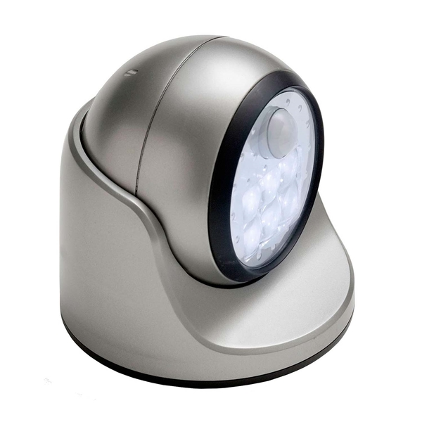Picture of Fulcrum 20031-101 Porch Light, Alkaline Battery, 4C Battery, 6-Lamp, LED Lamp, Silver, Plastic