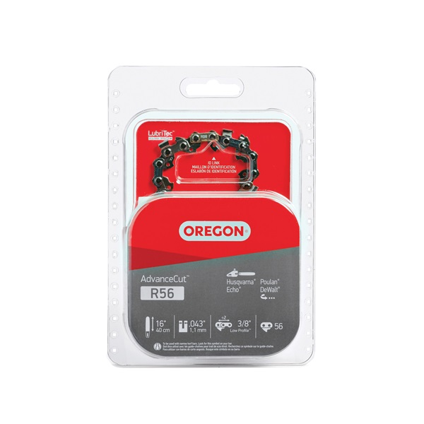 Picture of Oregon Micro-Lite R56 Chainsaw Chain, 16 in L Bar, 0.043 Gauge, 3/8 in TPI/Pitch, 56 -Link