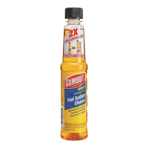 Picture of Gumout Regane 510014 Complete Fuel System Cleaner Yellow, 6 oz Package, Bottle