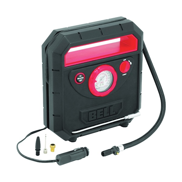 Picture of GENUINE VICTOR 3000 Series 22-1-33000-8 Tire Inflator, 12 V, 1 to 150 psi Pressure, Dial Gauge, ABS, Black/Red