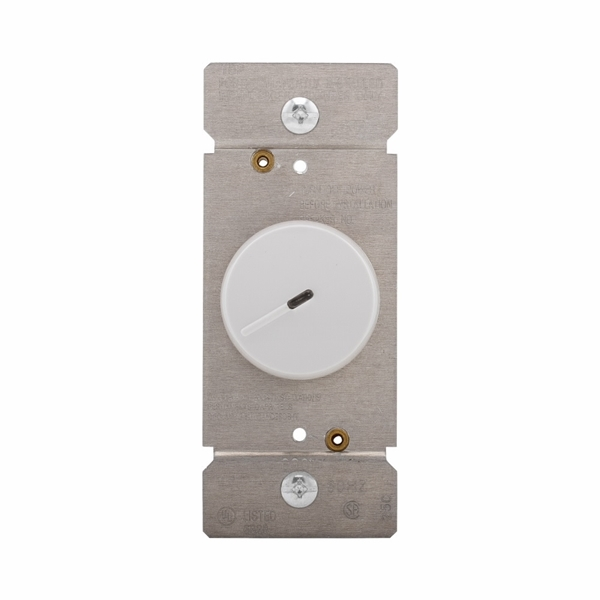 Picture of Eaton Wiring Devices RI06PL-W-K Rotary Dimmer, 120 V, 600 W, Halogen, Incandescent Lamp, 3-Way, White