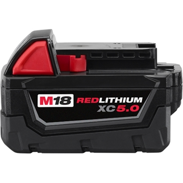 Picture of Milwaukee 48-11-1850 Battery Pack, 18 V Battery, 5 Ah
