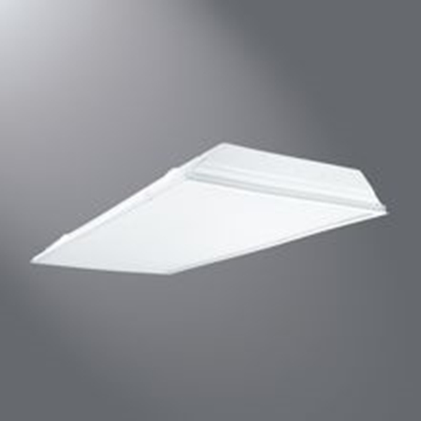 Picture of Metalux 2GR8432R Recessed Troffer, 120 V, 4-Lamp, 3100 Lumens, Steel Fixture, White Fixture