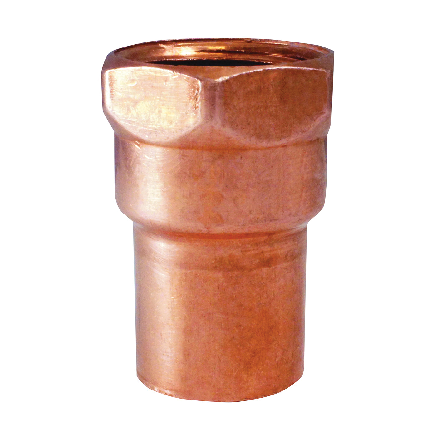 Picture of EPC 103R Series 10130138 Reducing Adapter, 1/2 x 1/4 in, Sweat x FIP, Copper