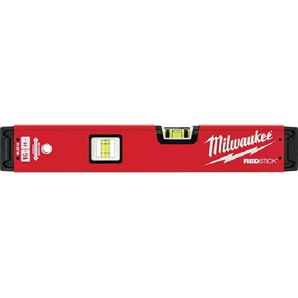 Picture of Milwaukee REDSTICK MLBX16 Beam Box Level, 16 in L, 2 -Vial, Aluminum, Red