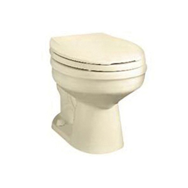 Picture of American Standard Galaxy 3352-208 Toilet Bowl, Round, 1.6 gpf Flush, 12 in Rough-In, Vitreous China, Bone