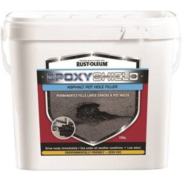 Picture of RUST-OLEUM 257893 Asphalt Pothole Filler, Black, 15 kg Package