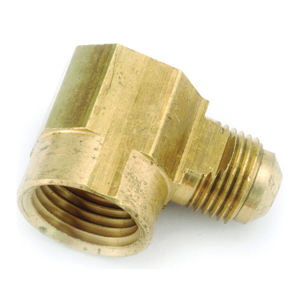 Picture of Anderson Metals 754050-0606 Tube Elbow, 3/8 in, 90 deg Angle, Lead-Free Brass, 1000 psi Pressure