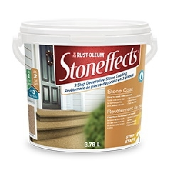 Picture of RUST-OLEUM Stoneffects N5210155P Stone Coating, Liquid, Arizona Sand, 3.78 L Package, Pail