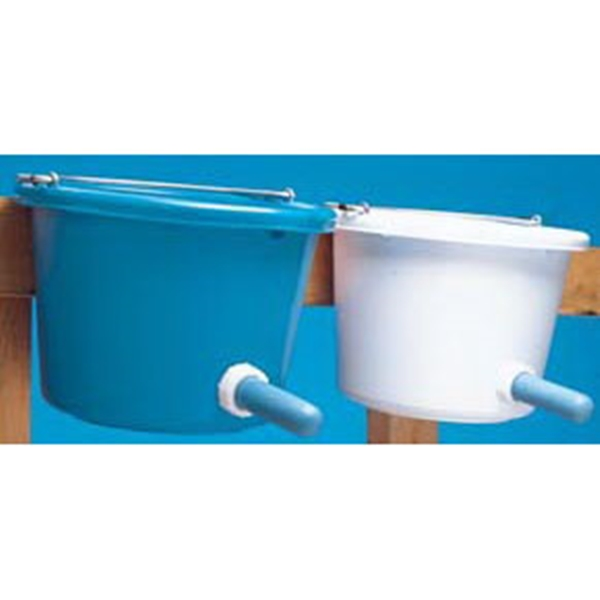 Picture of FORTEX-FORTIFLEX N400-8CF Calf Feeder with Nipple, 8 qt Capacity, Rubber Polyethylene Bucket, Blue Bucket