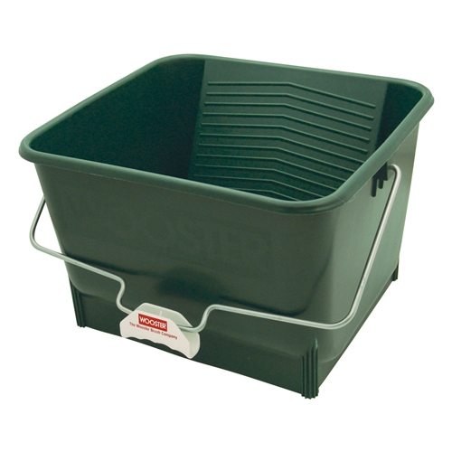 Picture of WOOSTER 8616 Paint Roller Bucket, 4 gal Capacity, Polypropylene, Green, Comfort-Grip Handle
