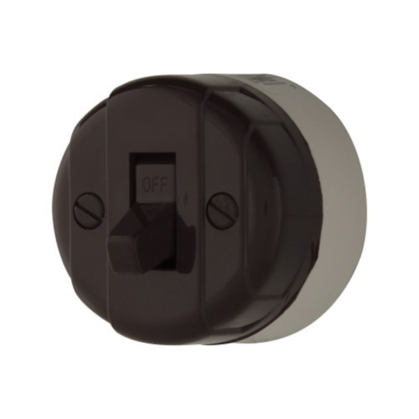 Picture of Eaton Wiring Devices 735B-BOX Switch, 10/5 A, 125/250 V, Plastic Housing Material, Brown