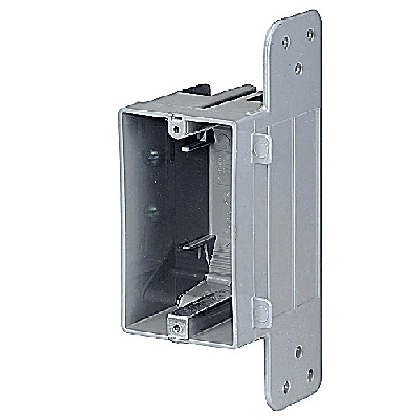 Picture of NuTek WSW-UPC Device Box, 1-Gang, Plastic, Gray, Screw Mounting