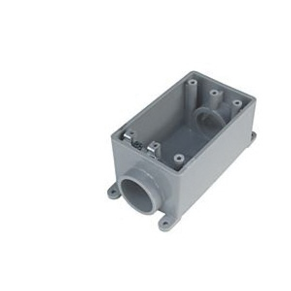 Picture of Carlon FSEB-075050 Combination Electrical Box, 1-Gang, PVC, Gray, Ceiling, Wall Mounting