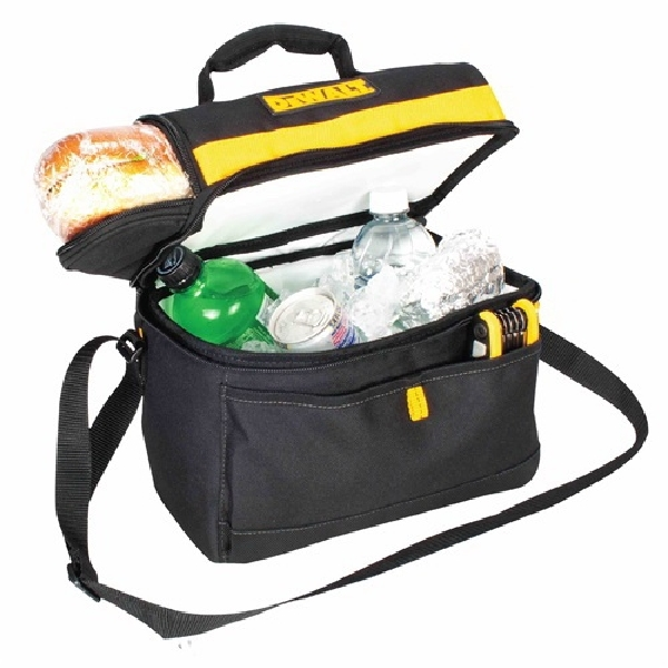 Picture of DeWALT DG5540 Cooler Tool Bag, 8 Cans Capacity, Polyester, Black/Yellow
