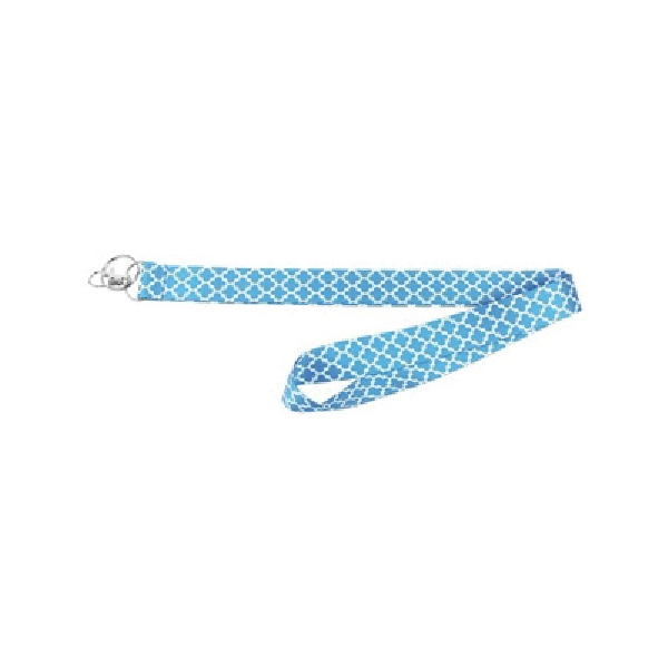 Picture of HY-KO 2GO LAN-117 Lanyard, 1 in W, Nylon, Blue, Clip End