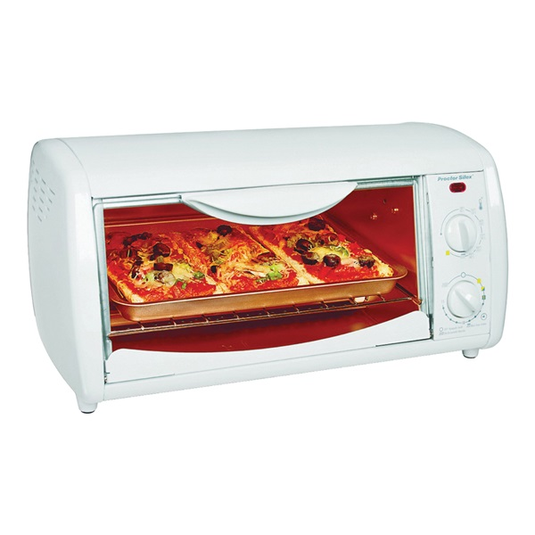 Picture of Proctor Silex 31116 Toaster Oven Broiler, 1050 W, Knob Control, White