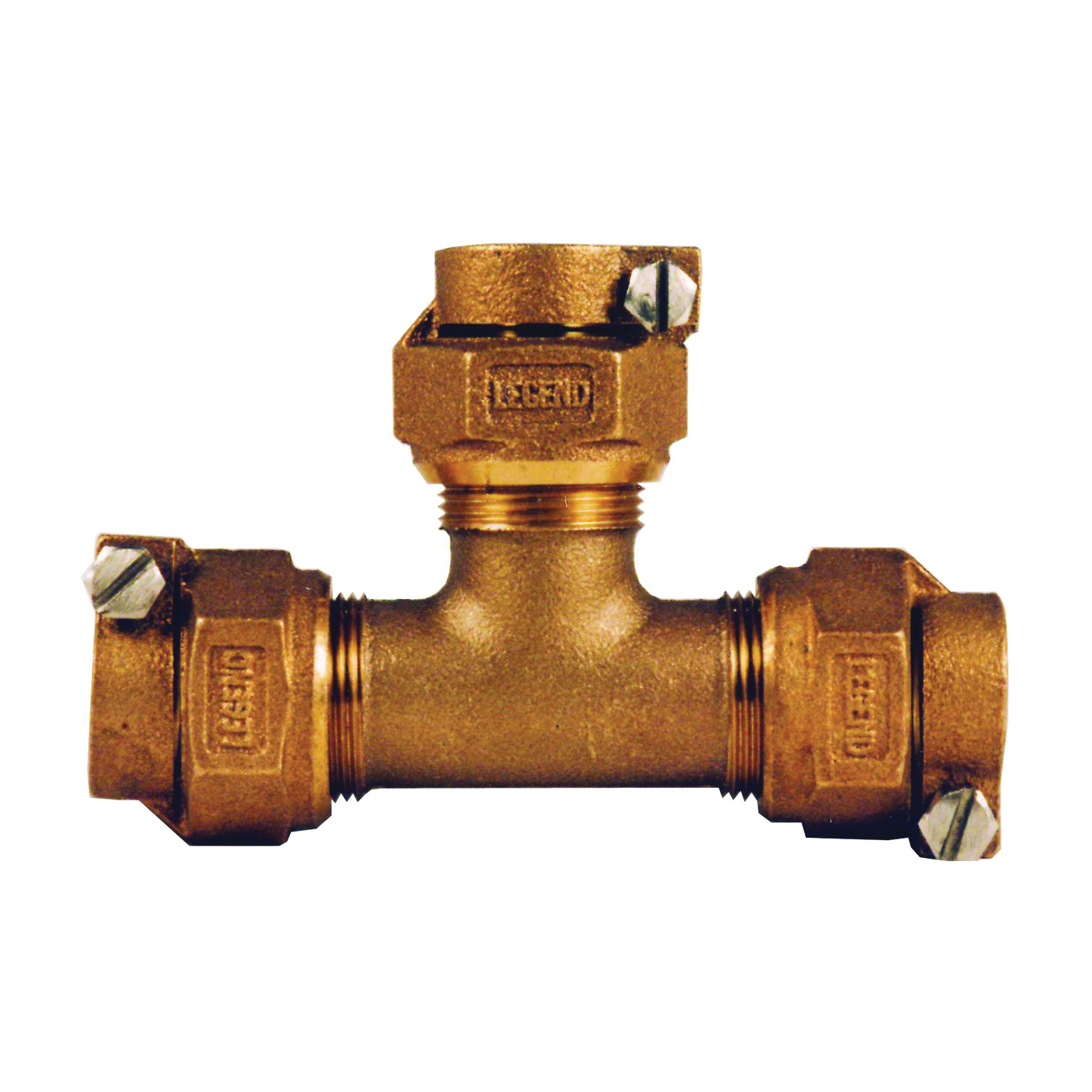 Picture of Legend T-4441NL 313-395NL Pipe Tee, 1 in, Pack Joint, Bronze, 100 psi Pressure