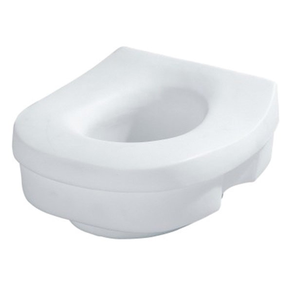 Picture of Moen DN7020 Toilet Seat, Elongated, Round, Plastic, White