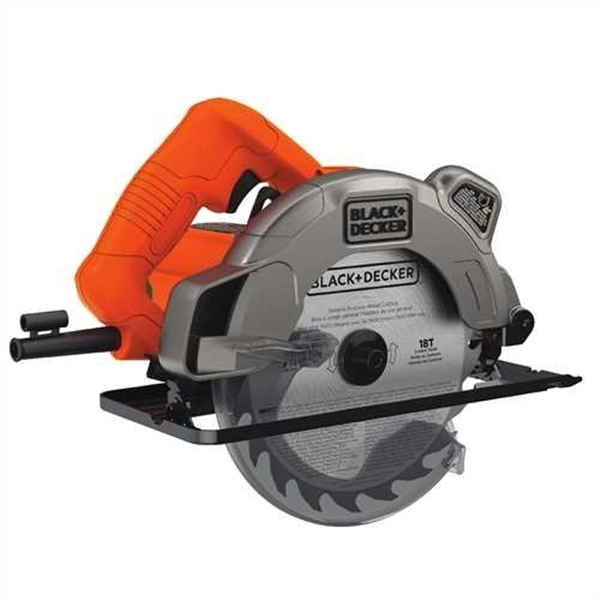Picture of Black+Decker BDECS300C Circular Saw with Laser, 13 A, 7-1/4 in Dia Blade, 0.62 in Arbor, 2-1/2 in D Cutting