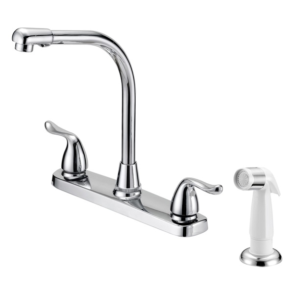 Picture of Boston Harbor F8F10036CP Kitchen Faucet, 1.8 gpm, 2-Faucet Handle, Metal, Chrome, Lever Handle