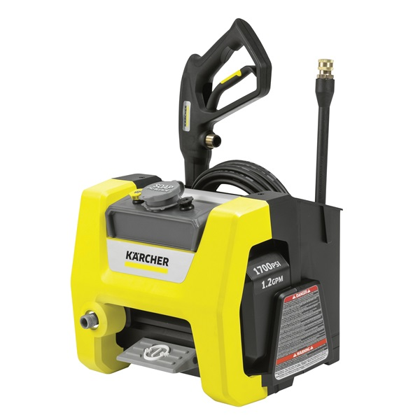 Picture of Karcher K1700 CUBE Pressure Washer, 1 -Phase, 13 A, 120 V, Axial Cam Pump, 1700 psi Operating, 1.2 gpm