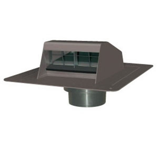 Picture of Duraflo 6013BR Roof Dryer Exhaust Vent, 5 in Duct, Brown Hood