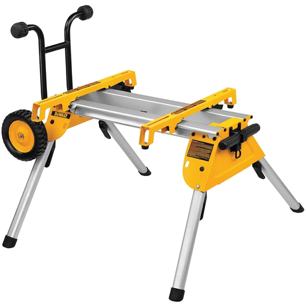 Picture of DeWALT DW7440RS Rolling Table Saw Stand, 200 lb, 19-3/4 in W Stand, 33-1/2 in D Stand, 9 in H Stand, Aluminum