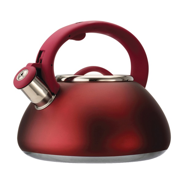 Picture of Primula Avalon PAVRE-6225 Whistling Tea Kettle, 2.5 qt Capacity, Stay-Cool Handle, Steel, Red