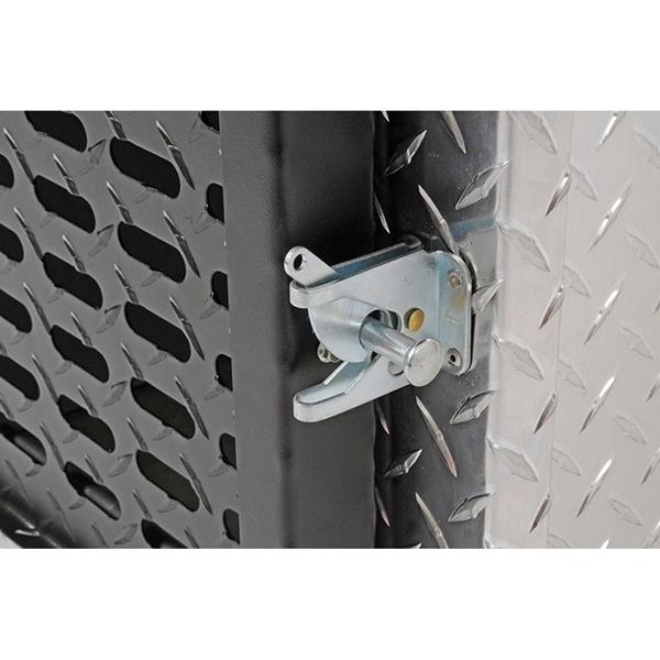 Picture of DEE ZEE DZ91782 Dog Box, 28 in W, 18-3/4 in D, 20 in H, Aluminum, Bright
