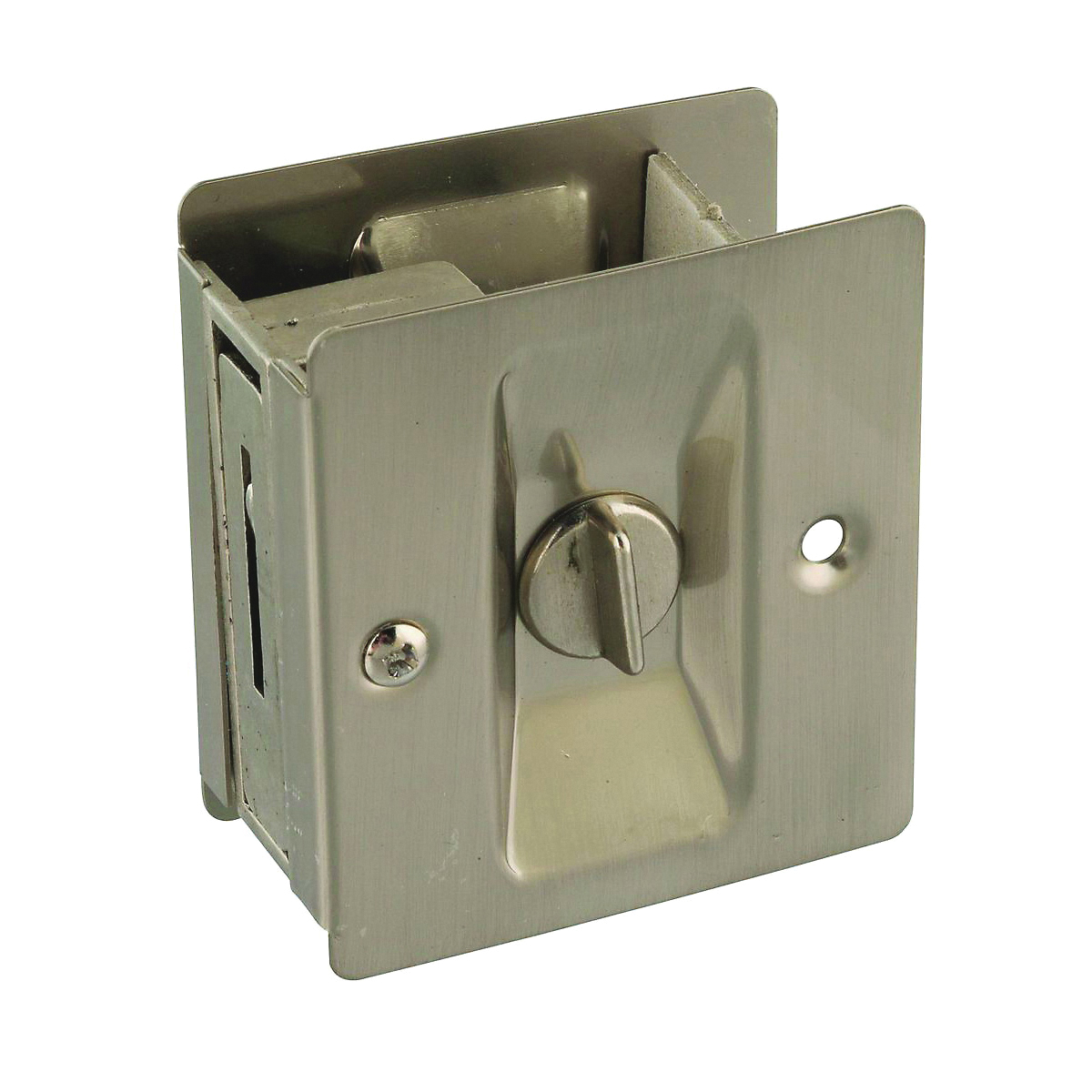 Picture of National Hardware V1951 Series N326-272 Pocket Door Latch, Solid Brass, Satin Nickel