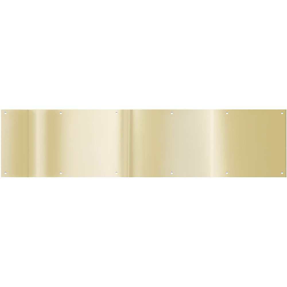 Picture of National Hardware V1996 Series N244-079 Kick Plate, 34 in L, 8 in W, Aluminum, Brass