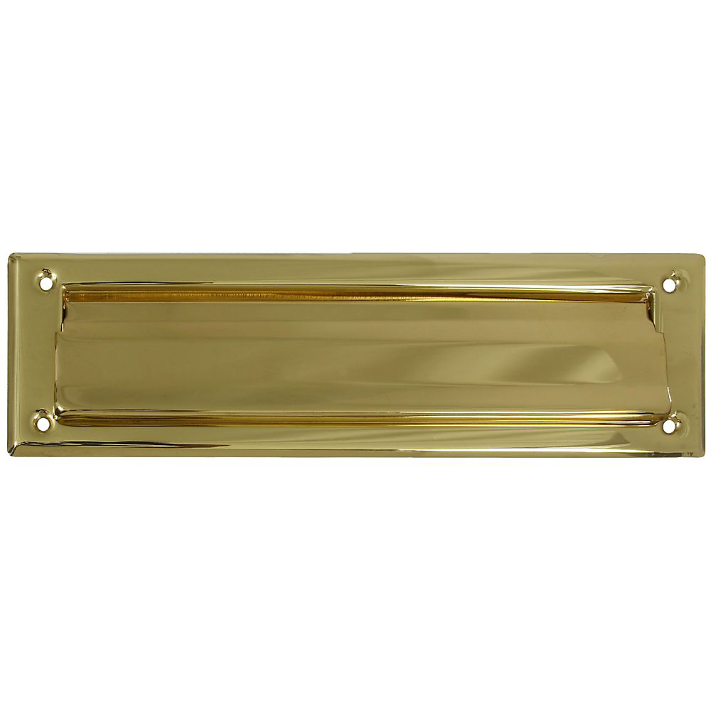 Picture of National Hardware V1911 Series N197-905 Mail Slot, 13.05 in L, 3.59 in W, Solid Brass