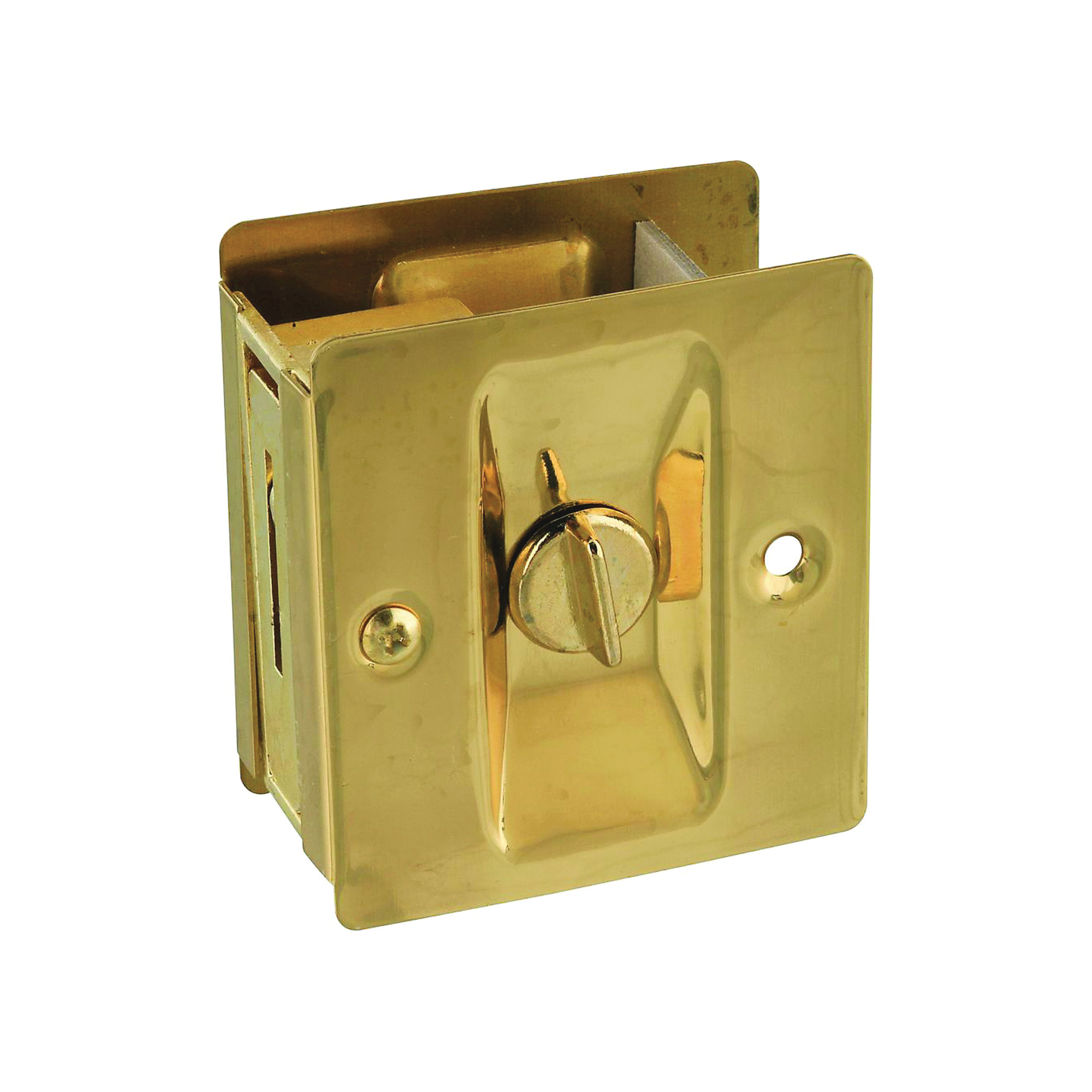 Picture of National Hardware V1951 Series N216-077 Pocket Door Latch, Solid Brass, Brass