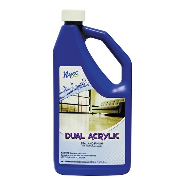 Picture of nyco NL90433-903206 Floor Seal and Finish, 32 oz Package, Liquid, Acrylic Polymer, White