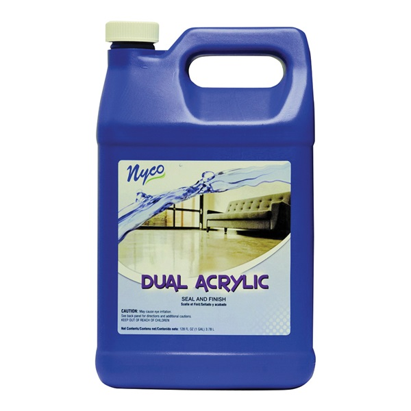 Picture of nyco NL90433-900104 Floor Seal and Finish, 128 oz Package, Liquid, Acrylic Polymer, White