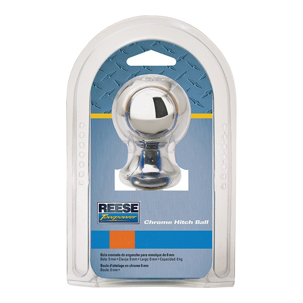 Picture of REESE TOWPOWER 74020 Hitch Ball, 2 in Dia Ball, 3/4 in Dia Shank, 3500 lb Gross Towing, Steel