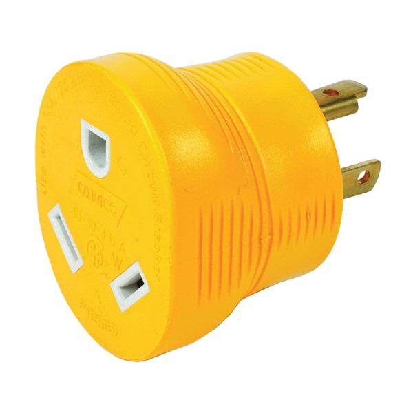 Picture of CAMCO 55333 Power Grip Adapter, 30 A Female, 30 A Male, 125 V, Male, Female