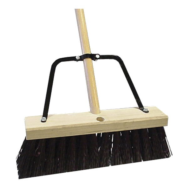 Picture of Quickie 00649HDSUTRI Push Broom, 16 in Sweep Face, Polypropylene Bristle, Wood Handle