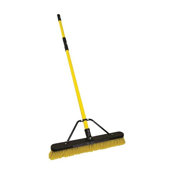 Picture of Quickie 00857FGSU Push Broom with Scraper, Fiberglass Handle