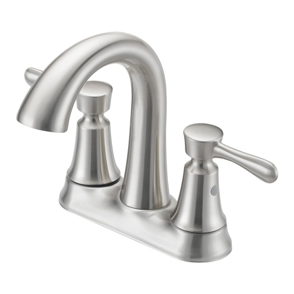 Picture of Boston Harbor F51B0035NP Lavatory Faucet, 1.2 gpm, 2-Faucet Handle, Metal, Brushed Nickel, Lever Handle