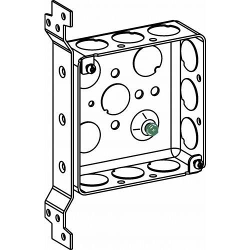Picture of Orbit D4SB-50-FB Switch Box, 1-Gang, 13-Knockout, 1/2 in Knockout, Steel, Gray, Galvanized, Flush Mounting