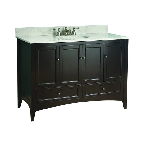 Picture of Foremost Berkshire BECA4821D Bathroom Vanity, Wood, Espresso, Free-Standing Installation, 2-Drawer