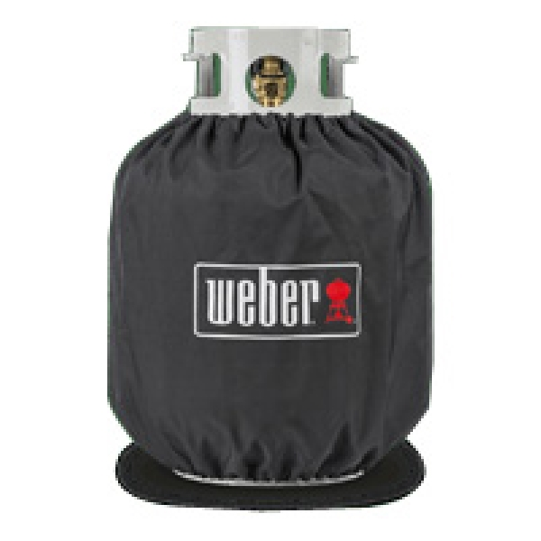 Picture of Weber 7137 Tank Cover, 13.9 in L, 13.9 in W, 16-1/2 in H, Polyester, Black