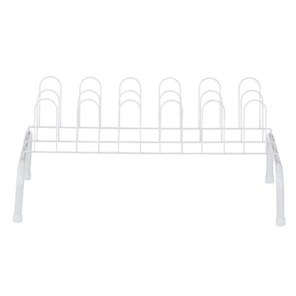 Picture of ClosetMaid 103900 Shoe Rack, 23 in W, 10 in H, Steel, White