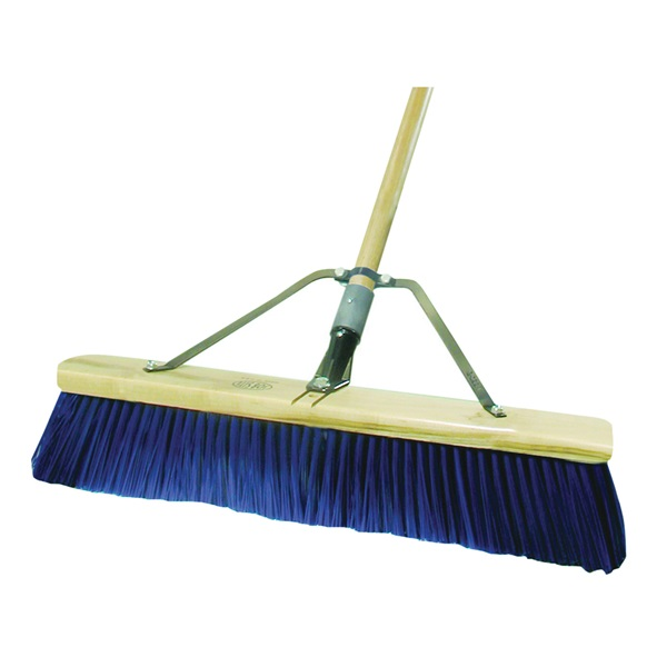Picture of Quickie 00869HDSU Push Broom, 24 in Sweep Face, Polypropylene Bristle, Wood Handle